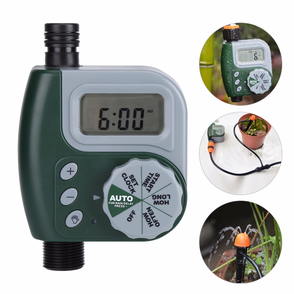 Garden-Watering-Control-System Electronic-Irrigation-Controller Automatic Bib Faucet-Hose title=
