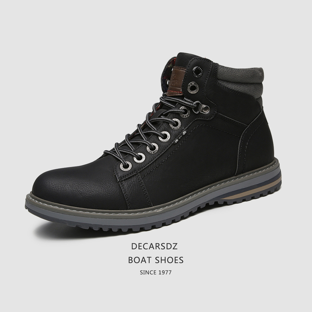 Man Shoes Casual Boots Men 2020 Autumn Fasihon Shoes Men Comfy Lace-Up Men Boots High Quality Leather Outdoor Hiking Men's Boots 1