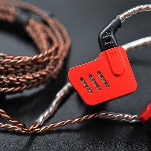 Image 4 - KZ BA10 5BA HIFI bas kulakiçi kulak kulaklık spor kulaklık gürültü iptal kulaklık yedek kablo AS10 ZS6