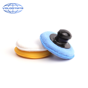 Image 1 - Volodymyr 왁스 패드 키트 3pcs 13cm 패드 세트 옐로우 블루와 화이트 포함 자동 케어 자세히 왁싱 자동차 청소 Carwash