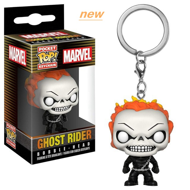 Funko Pop! Marvel Ghost Rider Movable Doll Keychain Toy Bag Pendant Model Children's Toy Creative Birthday Gift