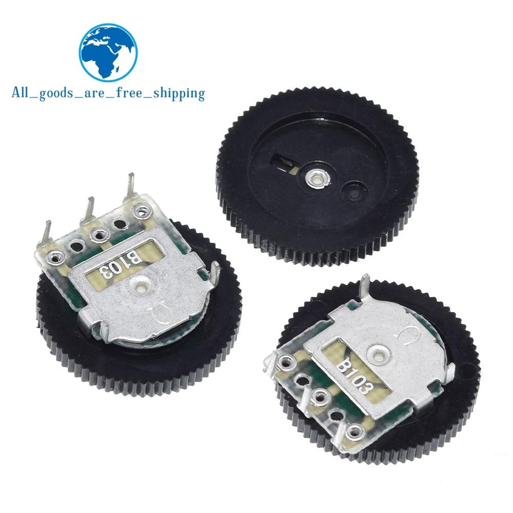 TZT 10 pièces B103 16x2mm 10K Ohm Double cadran conique Volume roue potentiomètre Duplex Z07 livraison directe