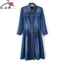 Женское джинсовое платье повседневное облегающее в ковбойском