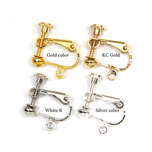 Image 5 - 100pcs/Lot No Hole Ear Clips DIY Handmade Earrings Parts Screw Ear Clip Without Piercing Jewelry Findings Wholesale AS05 100