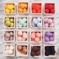 10 шт. 2 см войлочные шарики, круглые помпоны, шерстяные войлочные шарики 8 см, помпоны из искусственного меха, разноцветные помпоны для рукоде...