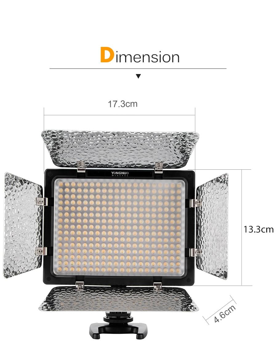 H9f05c79fe8d74e4fa048e8c3468210e1V Yongnuo YN300 III YN300III 3200k-5500K CRI95 Camera Photo LED Video Light Optional with AC Power Adapter + NP770 Battery KIT