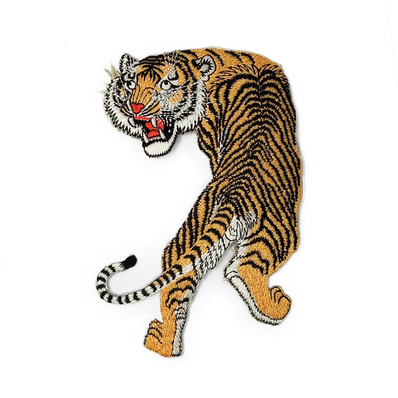 Tiger Embroidery Patch Computer Embroidery Stickers Cloth Cloth Embroidery Cloth Label Embroidery Badge Custom