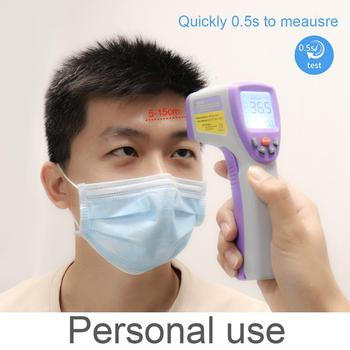 Handheld Non-contact Infrared Thermometer Digital LCD Body Forehead Pyrometer Surface Temperature Meter Imager C F Backlights