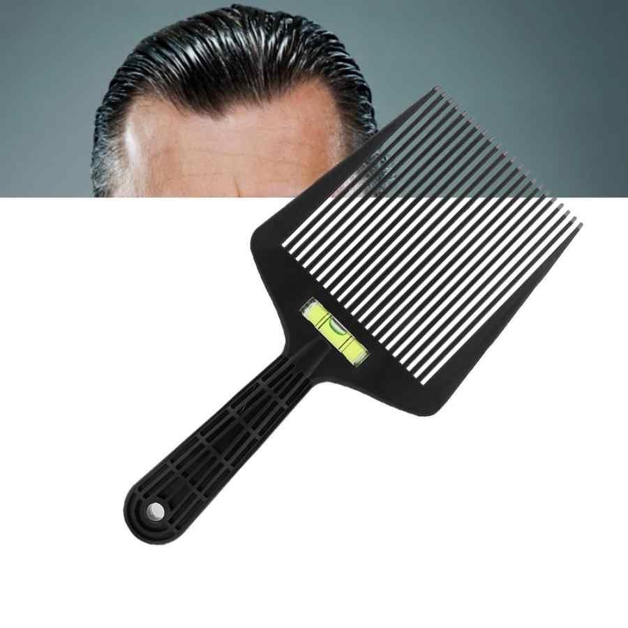 Cepillo para el cabello nivel de corte peine de aceite de explosión Ajuste de ángulo grande peine de dientes herramienta de estilismo peine de barba