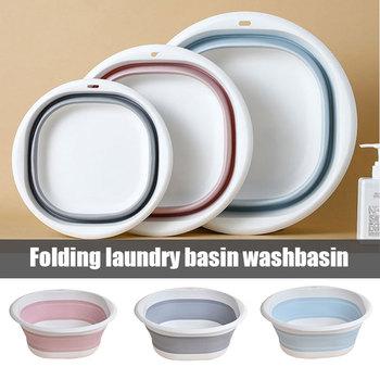 Plastikowe umywalki składane przenośne mycie umywalki składane wanny do prania łazienka akcesoria kuchenne składane umywalki W podróży tanie i dobre opinie CN (pochodzenie) 32cm2 Other Plastic 32 cm Ekologiczne Na stanie Nieprzejrzysta