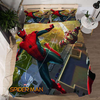 Spider man Bedding Set for Kids Bedroom Single Size Quilt Covers Twin Coverlets Boy's Home Decor Queen Bedspread King 3 pcs 3D