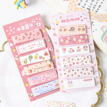 Memo-Pad Notepads Cute Stationery Paper Office-Supply Rainbow-Snack School Student 1pack