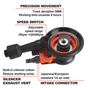 "Image 3 - FivePears máquina de lijado neumático, 150MM, 6 "", excéntrica, 5MM, Orbital aleatoria, lijadora de aire, herramientas neumáticas"