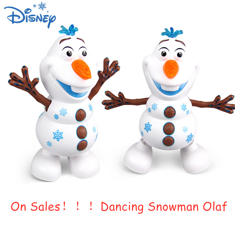 Action <font><b>figure</b></font> Robots Snowman Olaf Disney <font><b>Frozen</b></font> <font><b>2</b></font> Kawaii Dancing Toys Music Movable Robot For Kids Christmas Gifts 2020 New image