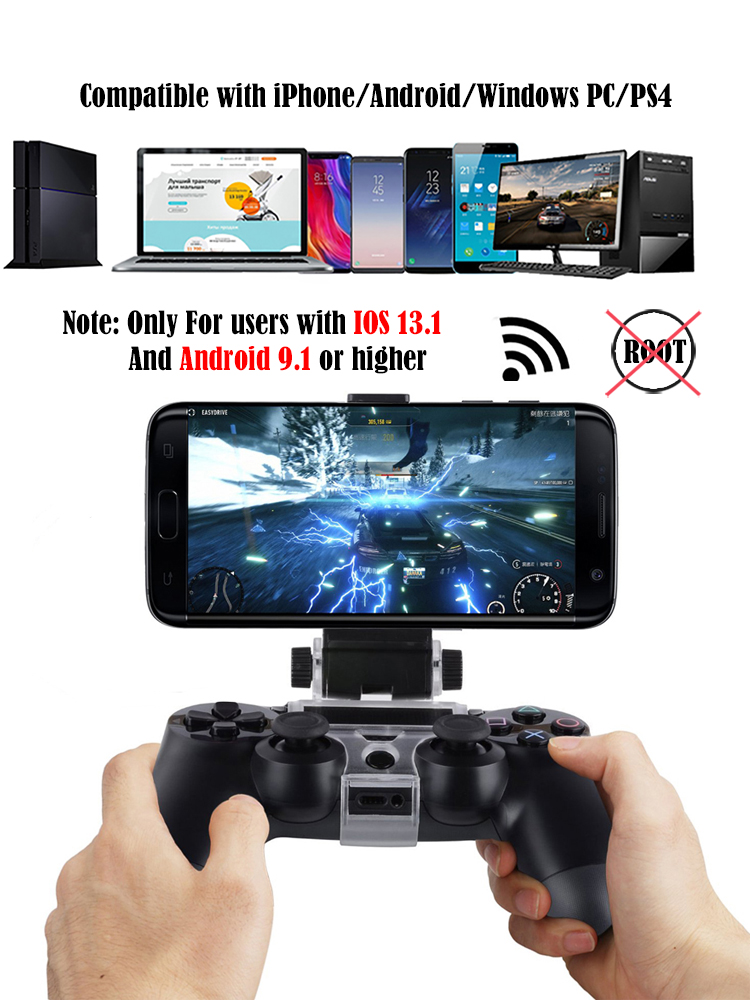 Bluetooth Gamepad and Wireless Gaming Controller for PS4 Pro/PC/iPhone/Android Smartphone 1