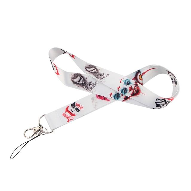 20pcs/lot BH1007 Cartoon Cat Lanyard For keys Hang Ropes Phone Badge Grey's Anatomy Neck Straps Horror Movie Clown Necklaces 6