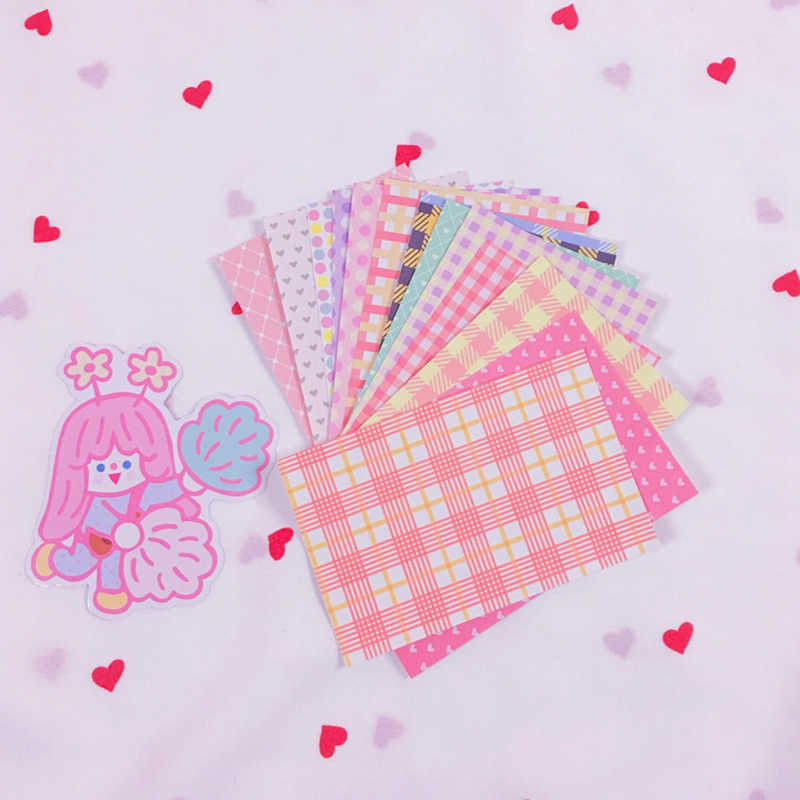 10 Stks/partij Cartoon Leuke Korea Stijl Ins Grid Perzik Hart Sticker Diy Scrapbooking Album Dagboek Label Interieurstickers