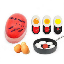 1pcs 계란 완벽 한 색상 변경 타이머 맛있는 소프트 하드 삶은 계란 요리 주방 에코 친화적 인 수 지 계란 타이머 레드 타이머 도구