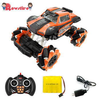 1:16 2.4G Remote Control Climbing Car Off-Road Vehicle With Music Lights Dance Lateral RC Drift Car - Orange/Green/Blue