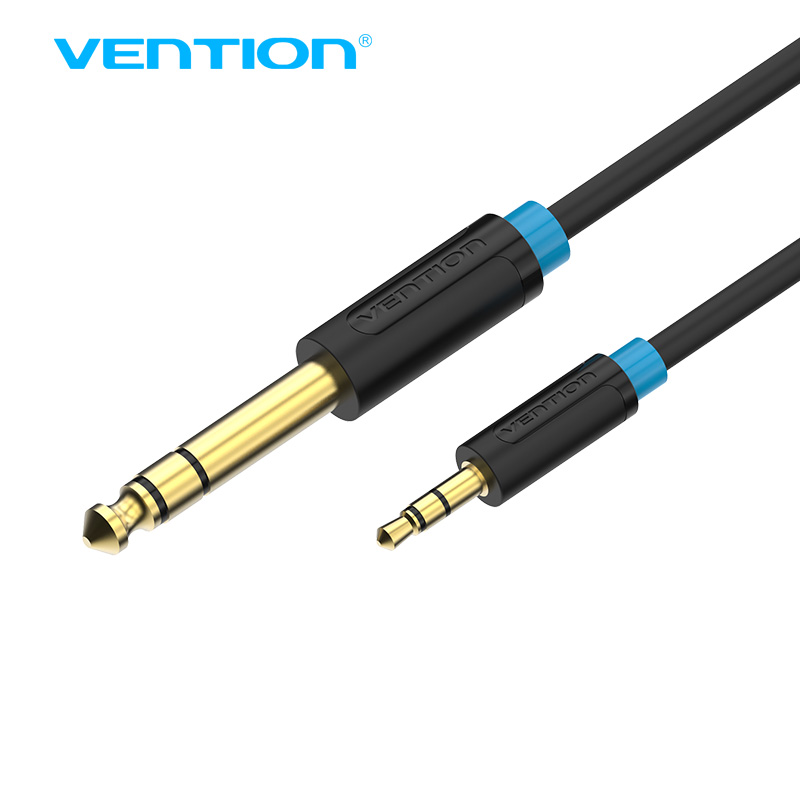 <font><b>Vention</b></font> <font><b>3.5mm</b></font> to 6.35mm Adapter Aux Cable for Mixer Amplifier Guitar Bi-direction 6.5 <font><b>Jack</b></font> to 3.5 <font><b>Jack</b></font> Male to Male <font><b>Audio</b></font> Cable image