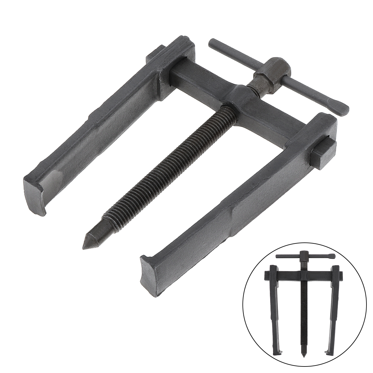 ChgImposs 8 Inch High-carbon Steel Two Claw Puller Separate Lifting Device Pull Strengthen Bearing Rama Removing Kit with Screw Rod for Auto Mechanic Maintenance