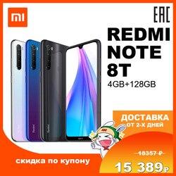 Redmi Note 8T 4GB128GB Mobile phone smatrphone Miui Android Xiaomi Mi Redmi Note 8T Note8T 128Gb 128 Gb 4030 mAh 48 mp 48mp Qualcomm Snapdragon 665 6,3 NFC IPS 26092 26004 26007