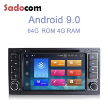 IPS Android 9.0 8 Core 64G + 4G lecteur DVD de voiture GPS navigation autoradio bluetooth pour VW Touareg T5 Multivan Transporter 2004-2011(China)