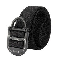 Mens Leisure Belt Military Tactical Waist Outdoor Hiking Metal Buckle Adjustable Training Hunting Accessories