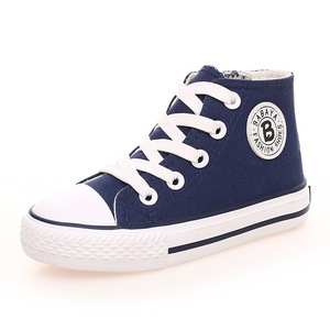 Image 3 - Sapatas dos miúdos para a menina crianças sapatos meninos sapatilhas sapatos de lona 2019 Primavera outono Crianças sapatos da moda meninas sapatos Brancos de Alta Sólida