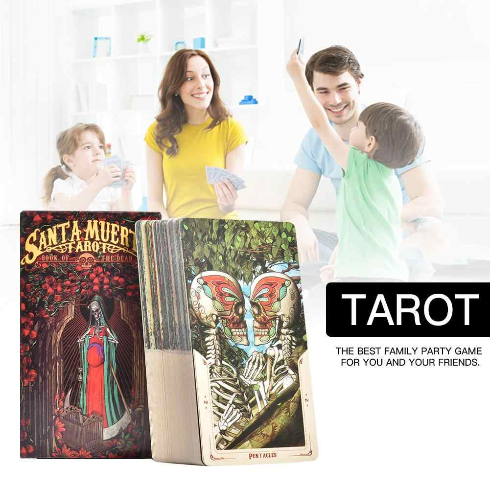 78 Pcs Tarot Cards Sheets Santa Muerte Tarot Card Board Game Playing Card Deck Table Games For Family Party