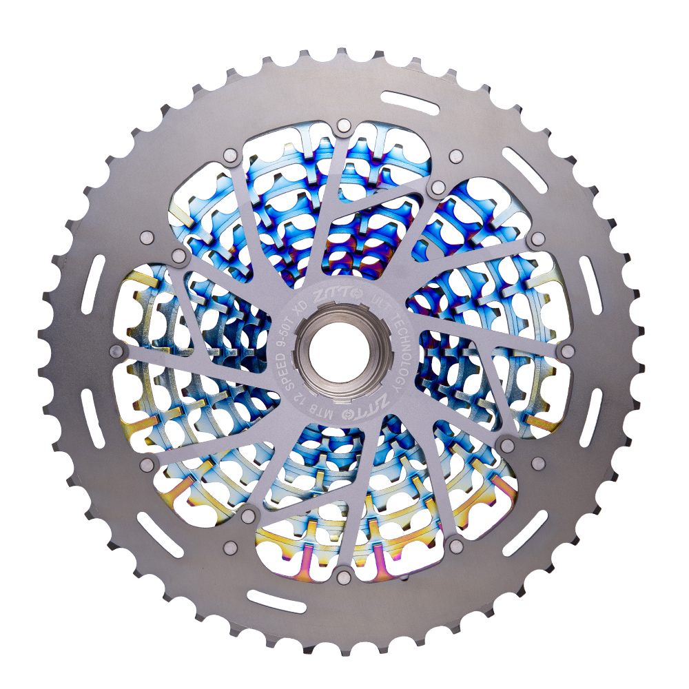 Image 4 - ZTTO MTB 12 Speed 9 50T Cassette Ultimate XD Cassette Rainbow 375g ZTTO ULT Cassette Ultralight 12s Cassette 1299 k7 Colorful-in Bicycle Freewheel from Sports & Entertainment