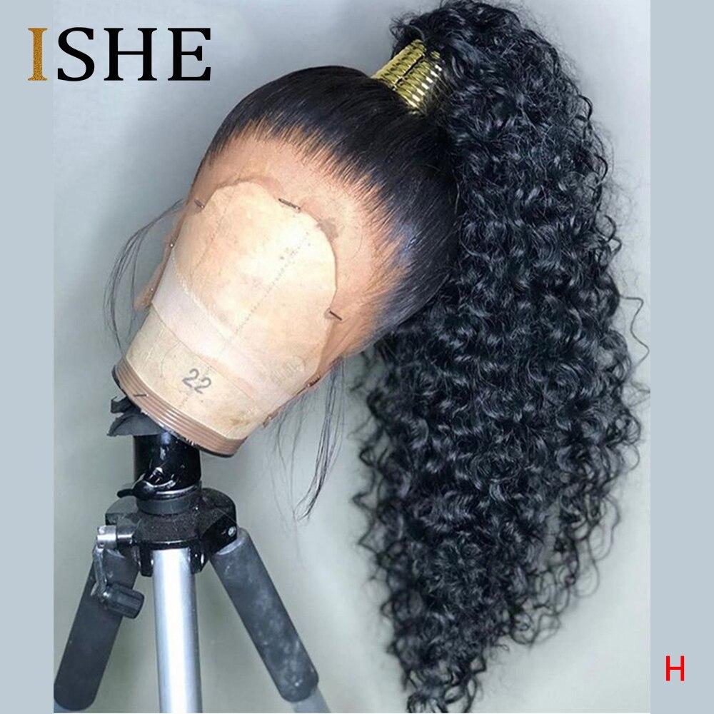 HD прозрачный Невидимый парик шнурка 360 фронтальные человеческие волосы парики Кудрявые длинные prepucked отбеленные узлы натуральные перуанск...