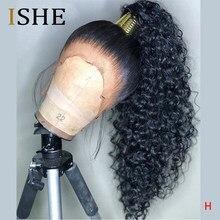 Hd peruca invisível transparente do laço 360 perucas frontal do cabelo humano encaracolado longo preplucked nós descorados natural peruano remy