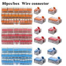 Conector de fio encaixotado bloco de terminais compacto universal do agregado familiar que ilumina o conector de fio para o conector rápido híbrido interno 5