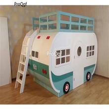 Prodgf 1 pçs um conjunto quarto de madeira maciça crianças duas camadas cama carro