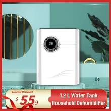 Home Dehumidifier Negative Ion Air Cleaner Energy Saving Air Dryer Low Noise 1200ml Water
