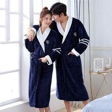 Winter Chinese Vrouwen & Mannen Coral Flanel Robe Bad Gown Soft Thicken Warm Nachtkleding Nachtkleding Plus Size 3XL Kimono Badjas jurk