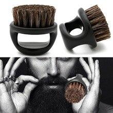 Hommes barbe blaireau sanglier fourrure doux Salon de coiffure nettoyage du visage rasage outils rasoir brosse avec poignée style accessoire