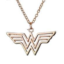 Модное ювелирное Золотое очарование Супер Герой Чудо женское ожерелье с подвеской для мужчин и женщин подарок