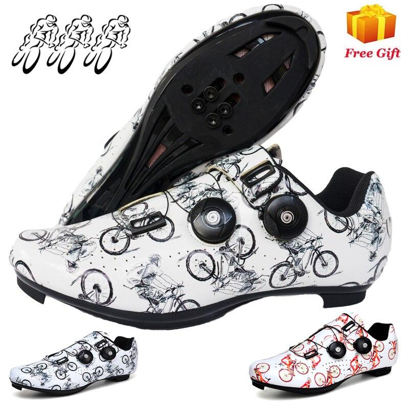 Профессиональная Обувь для езды на шоссейном велосипеде, Всесезонная велосипедная обувь для отдыха с замком для мужчин и женщин