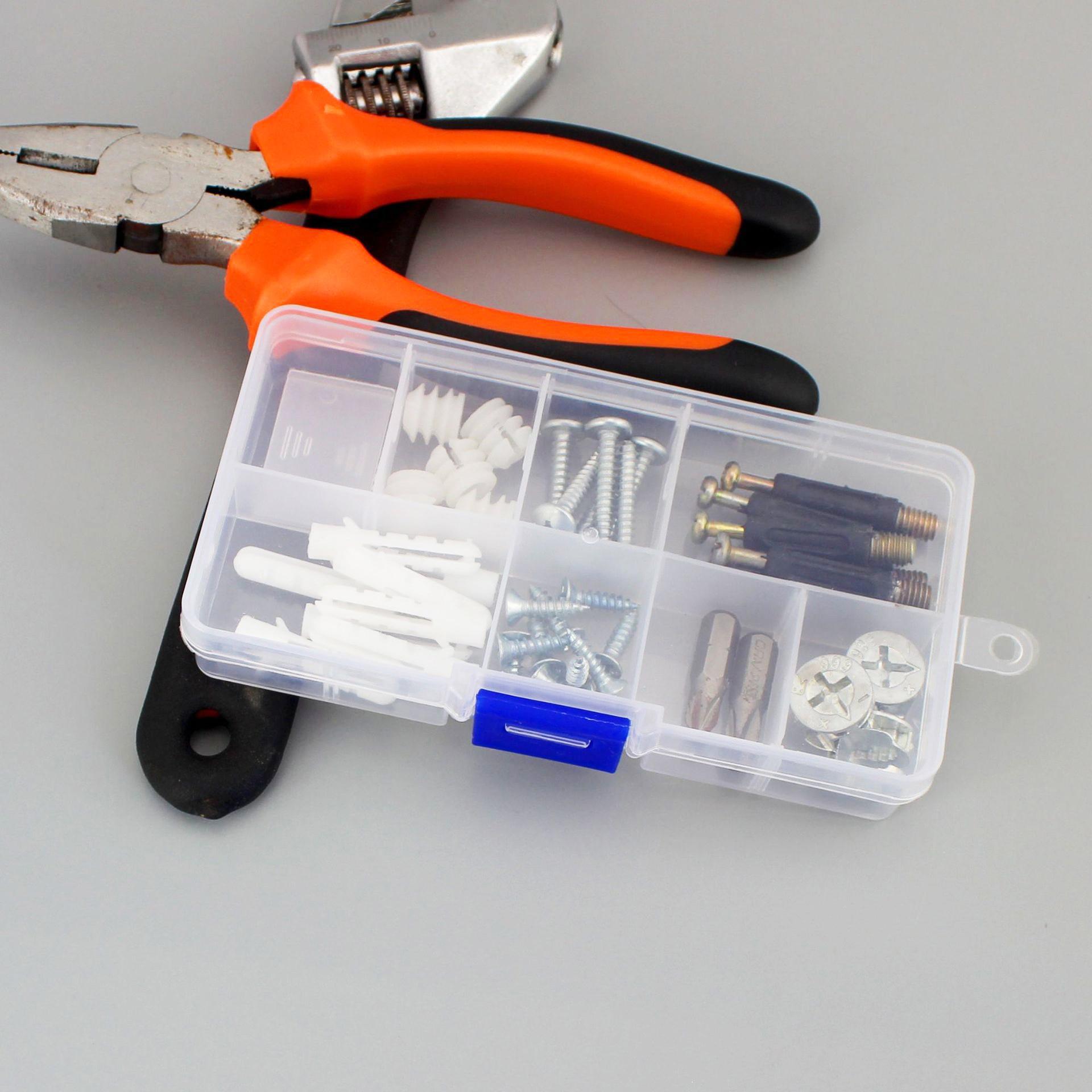 Купить прозрачный пластиковый органайзер для драгоценностей с 10 отделениями
