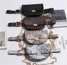 Serpentine Alligator Pu Leather Belt Bags Women 2019 Fashion Round Waist Bags Women Chain Shoulder Bags Luxury Fanny Pack Female