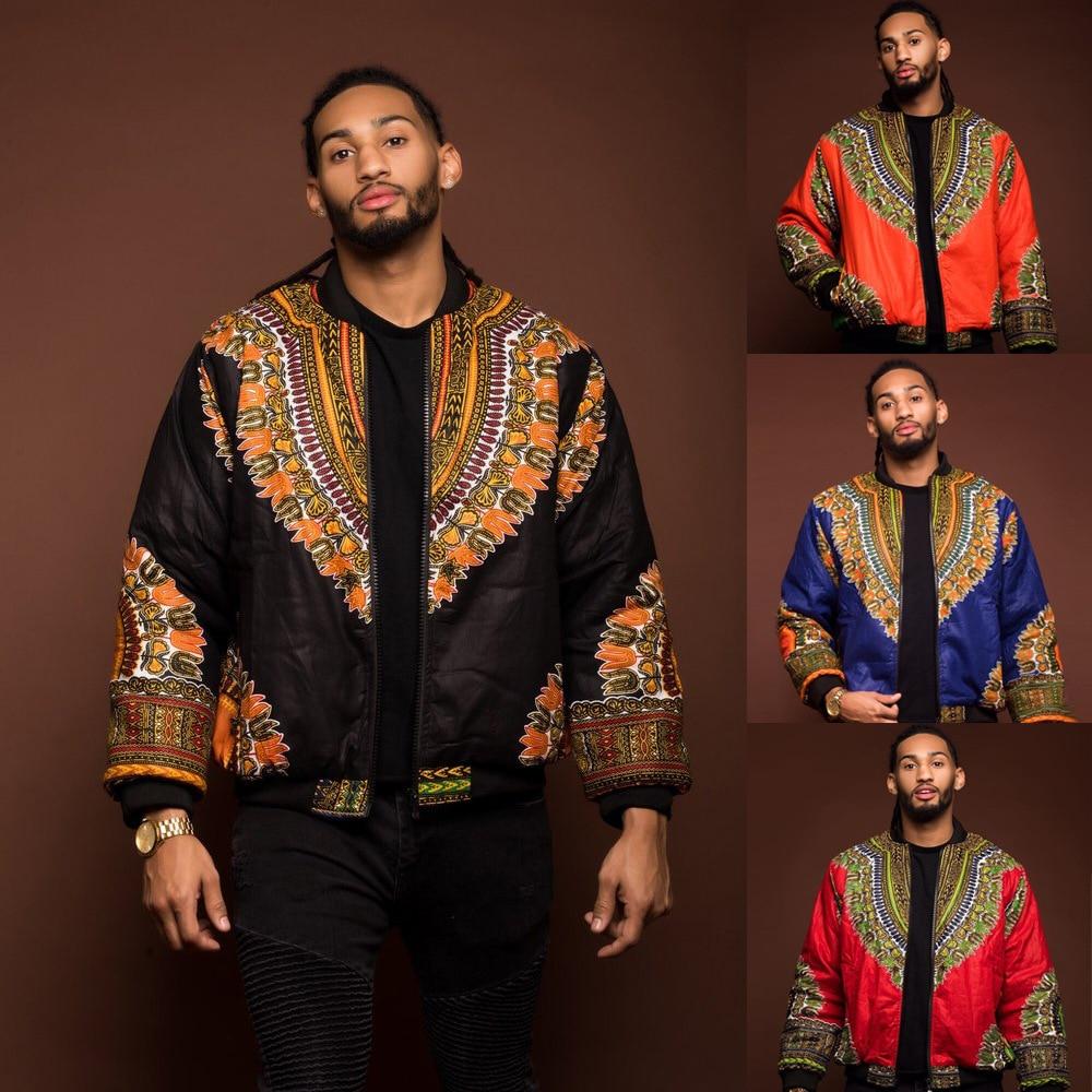 Yj7116 Hot Selling Sexy Retro Ethnic MEN'S Wear Large xi ji-Dashiki Jacket Africa Printed Coat