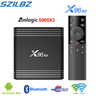 Presale X96 Air Smart TV Box Amlogic S905X3 4GB 32GB 64GB Android 9.0 TV BOX 1080P 4K 60fps 2.4G&5.0 WIFI Set Top Box New Arrial