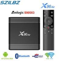 X96 Air Smart TV Box Amlogic S905X3 4GB 32GB 64GB Android 9.0 TV BOX 1080P 4K 8K fps24 2.4G&5.0 WIFI Set Top Box support Plex