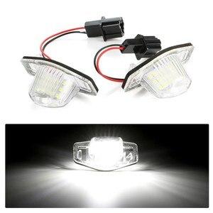 New 2 Pcs/Set 18 LED Lamp Number License Plate Light for Honda Jazz Odyssey Stream Insight CRV FRV HR-V Crosstour 5D DXY(China)