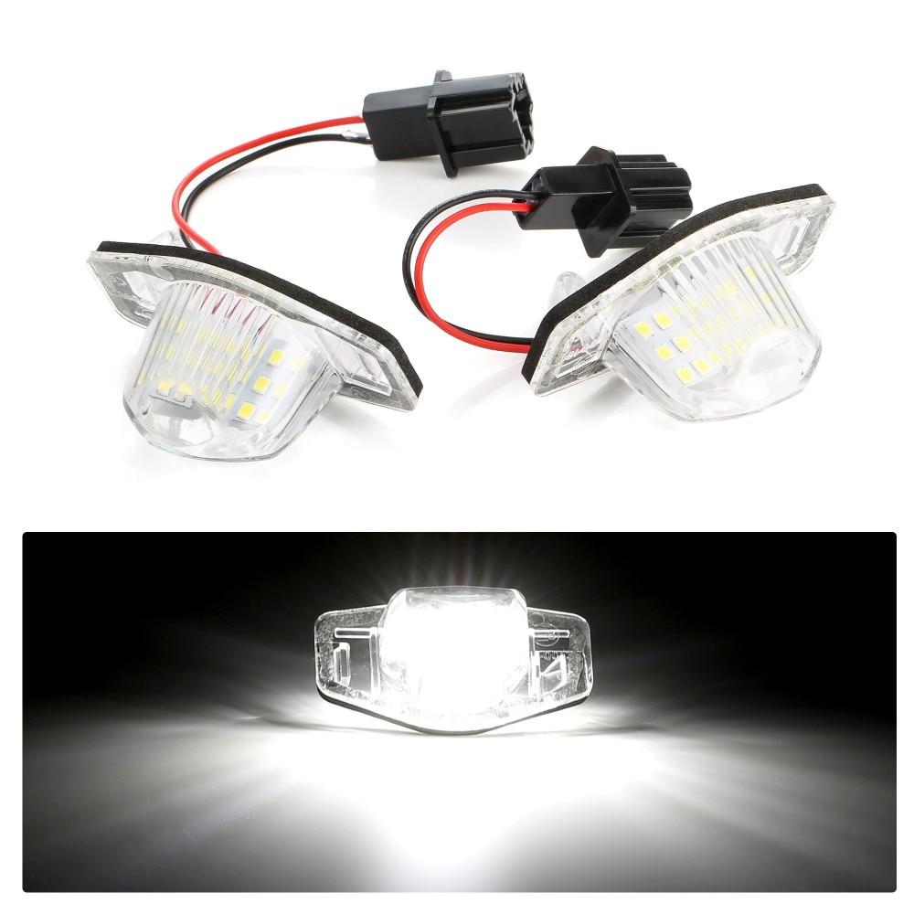 2pcs LED License Number Plate Light for Honda FR-V Edix Insight Fit Jazz Stream