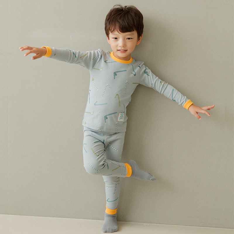 Autumn And Winter New Style Korean-style CHILDREN'S Suit Pure Cotton Long Sleeve Crew Neck Children Tracksuit Men And Women Baby