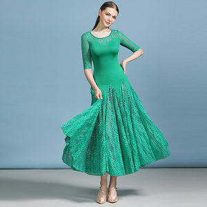 Image 3 - 安い社交ドレスラテンタンゴ衣装フラメンコドレスワルツ格安ダンス衣装フォックストロットダンスドレスドレス女性ダンスの摩耗のレース