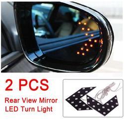 2pcs /set Car LED Light Rearview Mirror Indicator Light Turn Signal Lamp DC 12 V 14 Pcs SMD 6000K-8000K 1.92 W Led Tube